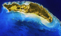 View of Anegada from the International Space Station